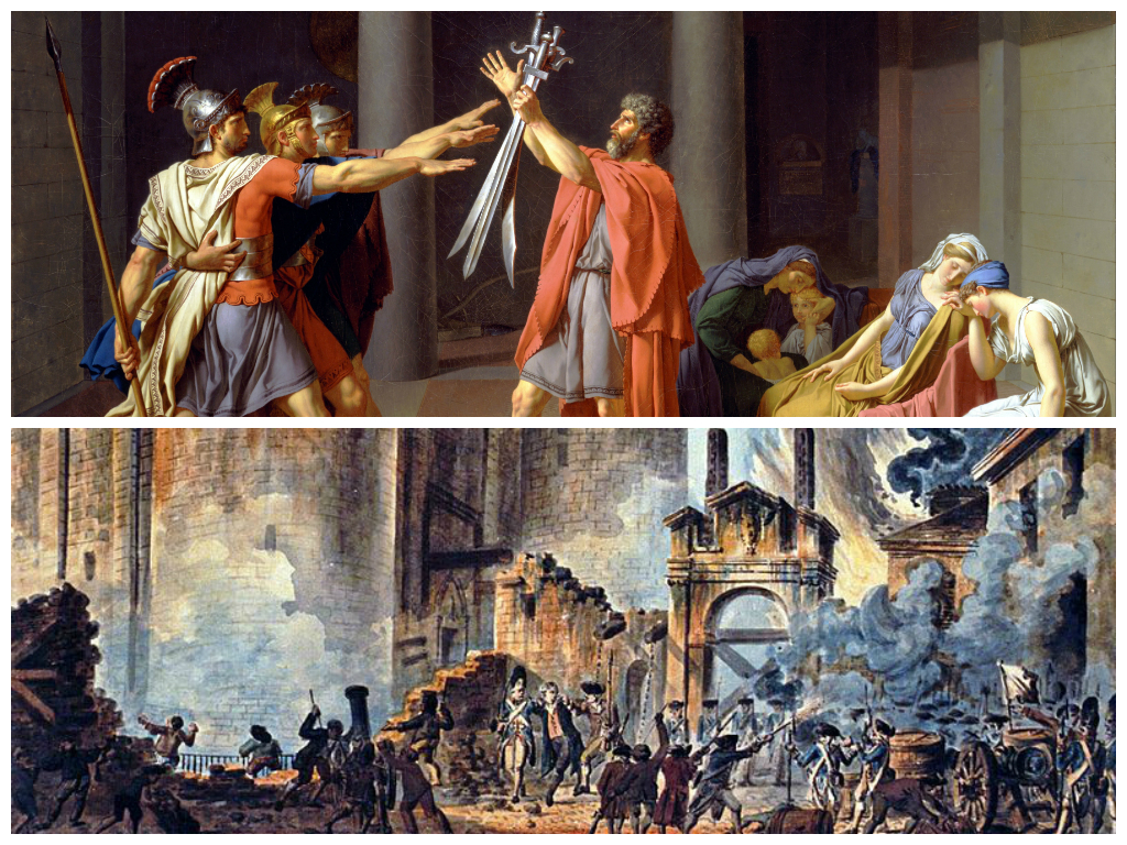 relationship between neoclassicism and french revolution